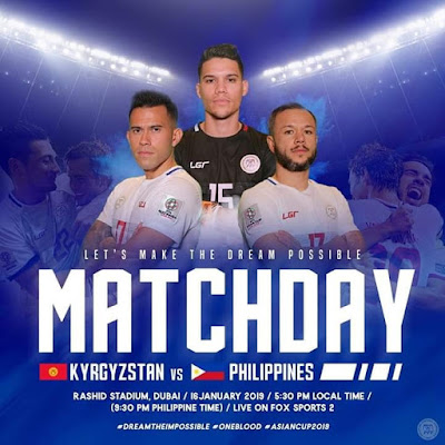 Kyrgyzstan vs Philippines Live Streaming AFC 2019 (16.1.2019)