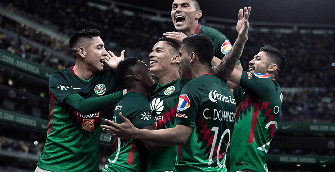 12331a9b492 ... pays homage to Mexico. The new Nike Club America 2018 fourth jersey  will be worn by the club for the first time against Club Santos on April 28  2018.