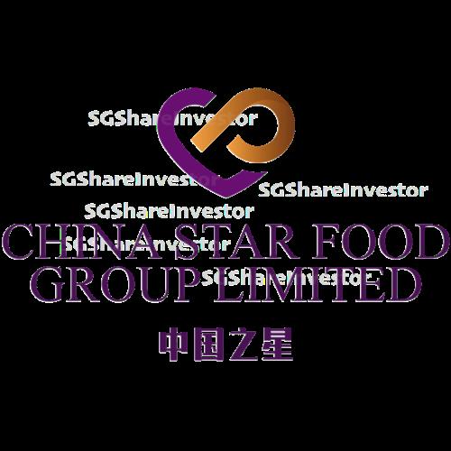 CHINA STAR FOOD GROUP LIMITED (42W.SI) @ SG investors.io