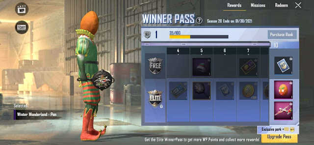 PUBG Lite Season 20 Winner Pass out No WP level adjustment