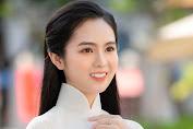 Nữ sinh có tên lạ Trịnh Thị Ái Phi đến từ Kon Tum đẹp tinh khôi với áo dài trắng