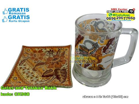 Gelas And Tatakan Batik