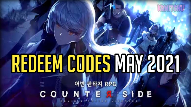counterside redeem codes may 2021