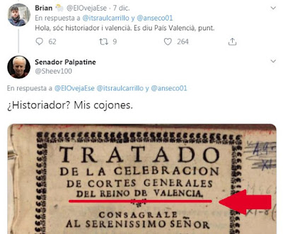 Hola, sóc historiador i valencià. Es diu País Valenciá, punt. Historiador? Mis cojones.