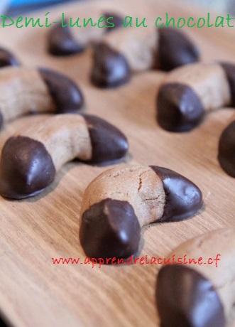 Demi-lunes au chocolat