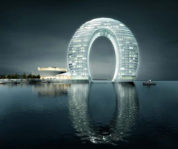 Interesting buildings from glass