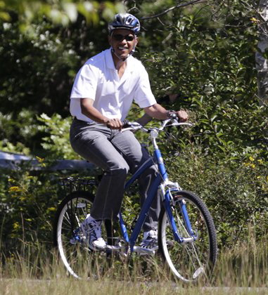George W Bush Biking In TX Obama Wants To Ride Bikes