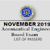 November 2019 Aeronautical Engineer Board Exam Result