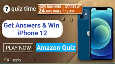 Amazon Quiz today answer win iPhone 12