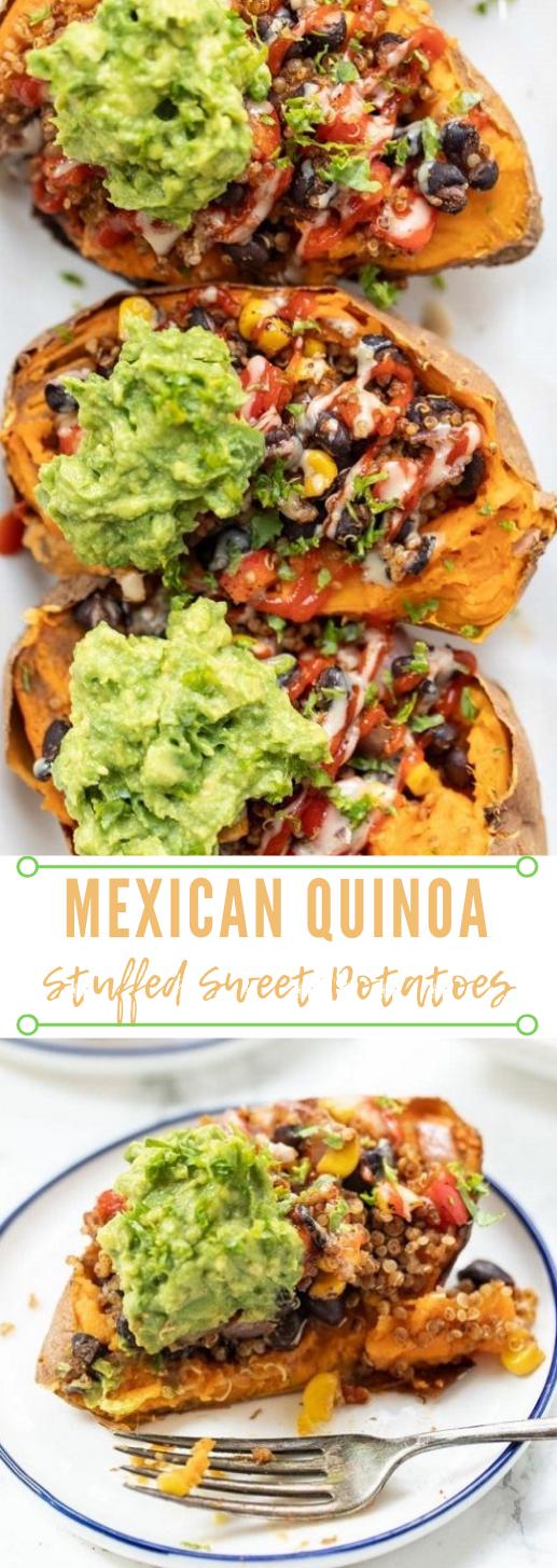 Mexican Quinoa Stuffed Sweet Potatoes #potato #salad #vegan #breakfast #easy