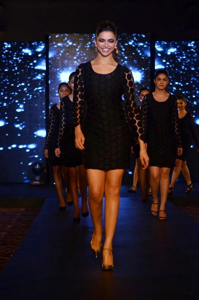 Back to modelling Deepika Padukone walks the ramp for Van Heusen in short dress