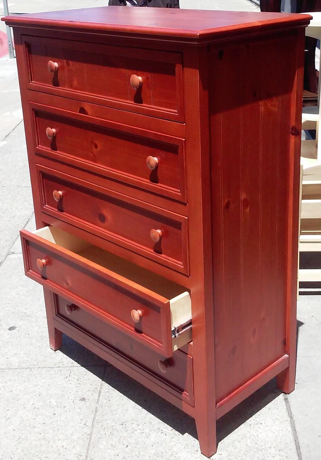 Uhuru Furniture Collectibles Sold 3699 Honey Pine 5 Drawer Chest 100