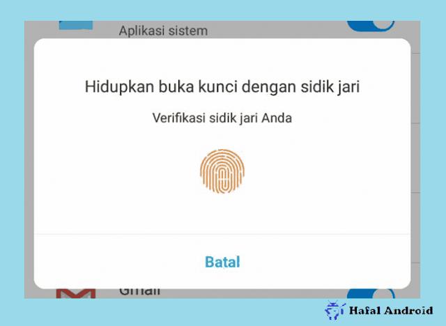 Menambahkan Pengaman Sidik Jari Aplikasi Xiaomi