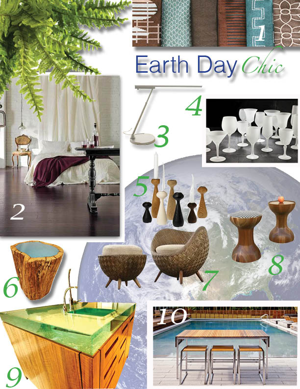 Earth Day Chic For The Home