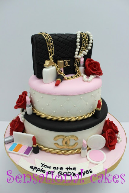 3f4ad17f317c BEST VERSION CHANEL THEME 3D CAKE SINGAPORE # 3 TIERS OF GOLD GLITTER PINK  BLACK ROSE 3D CAKE SINGAPORE #CHANEL THEME 3D CAKE AND CUPCAKES # 2.55 BAG  THEME ...