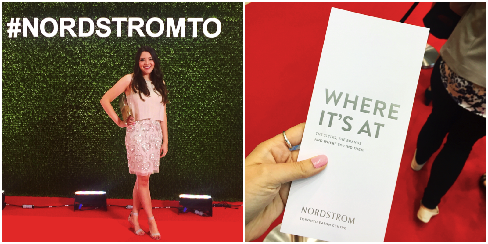 Nordstrom Toronto Eaton Center Yorkdale Location opening gala red carpet