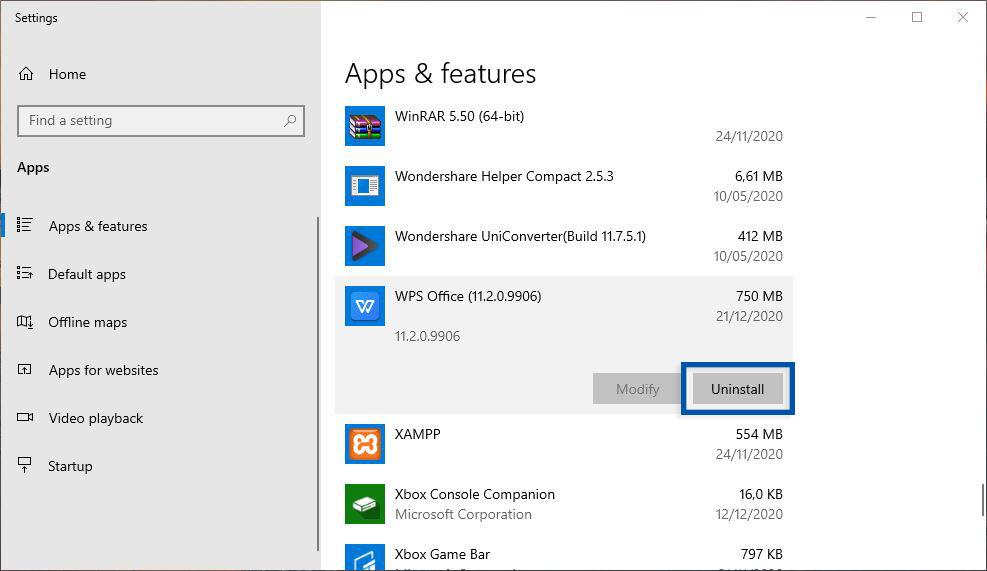 Install WPS Office Windows