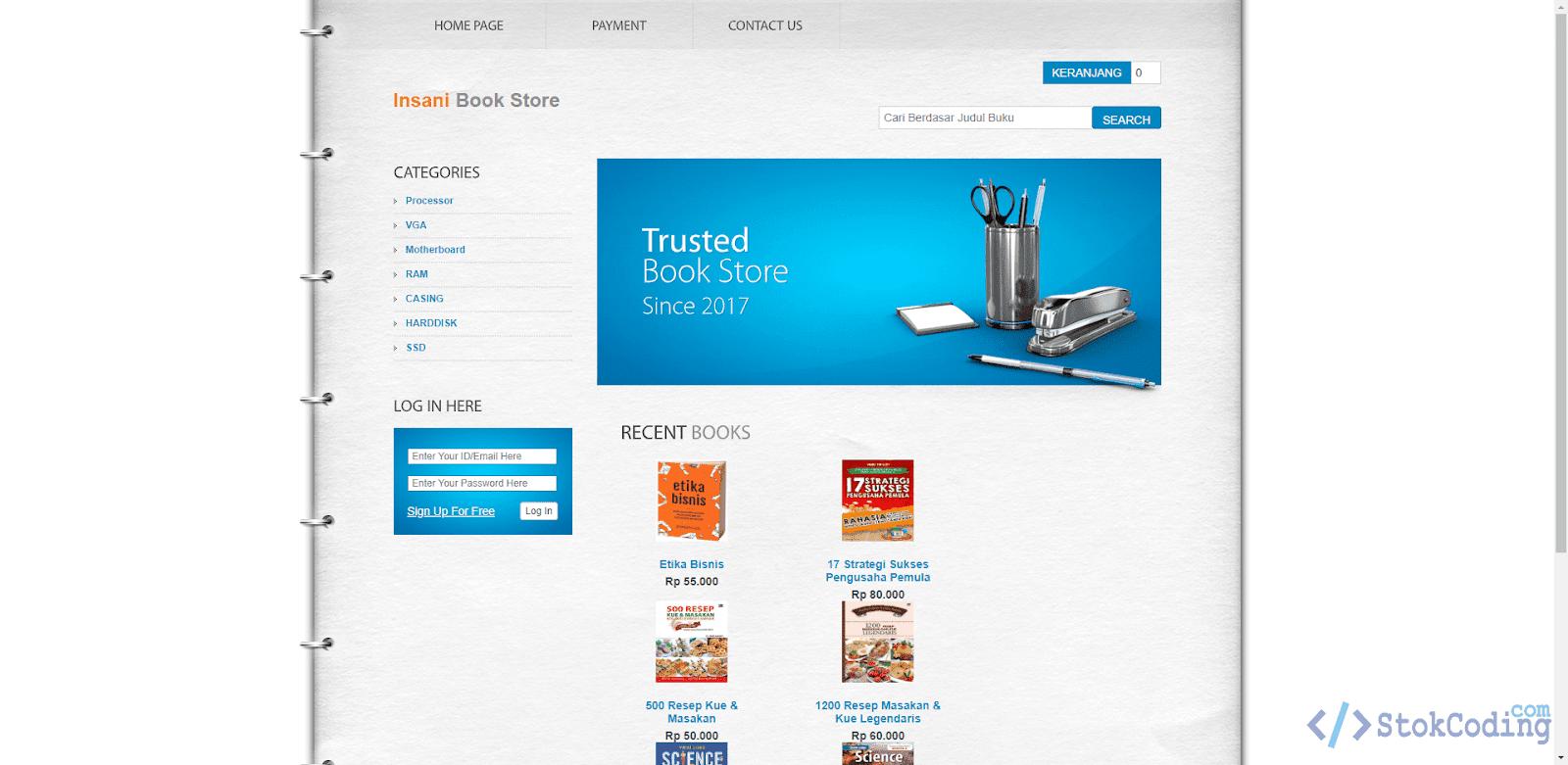 Aplikasi Penjualan Buku Berbasis Web (PHP)