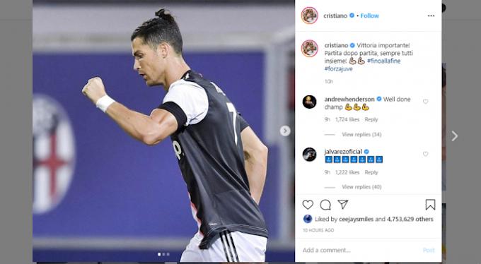 Ronaldo celebrates another new record