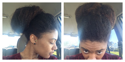 A simple, elegant bun for #naturalhair