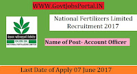 National Fertilizers Limited Recruitment 2017 – Account Officer