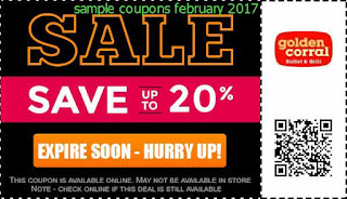 free Golden Corral coupons february 2017