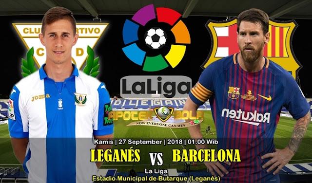 Prediksi Leganes vs Barcelona 27 September 2018