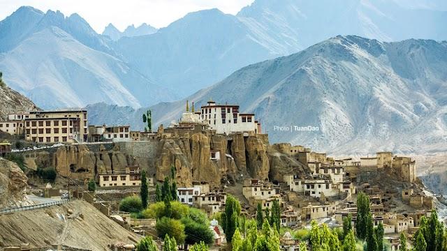 The scene in Ladakh