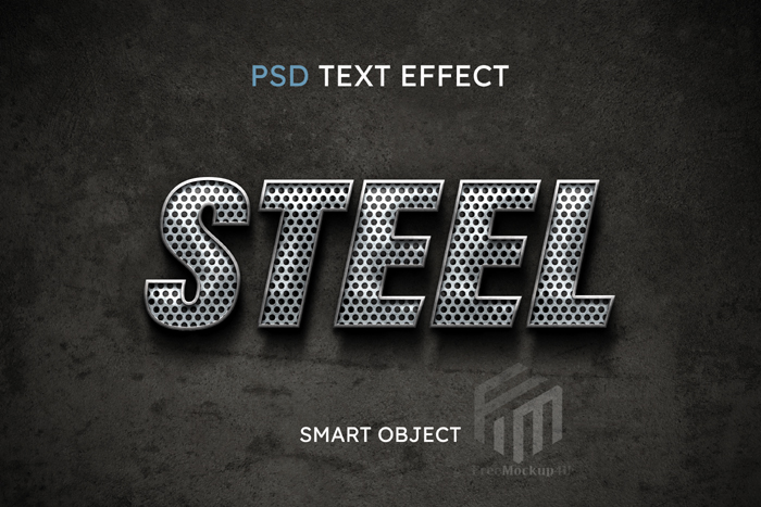 Steel Editable Text Style Effect Psd Template