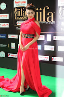 Apoorva in a Stunning Tight Leg Split Sleeveless Red Gown at IIFA Utsavam Awards 02.JPG