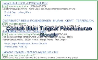 Contoh Iklan Tingkat Penelusuran Google