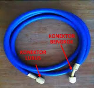 Beda dua ujung konektor manifold gauge analizer