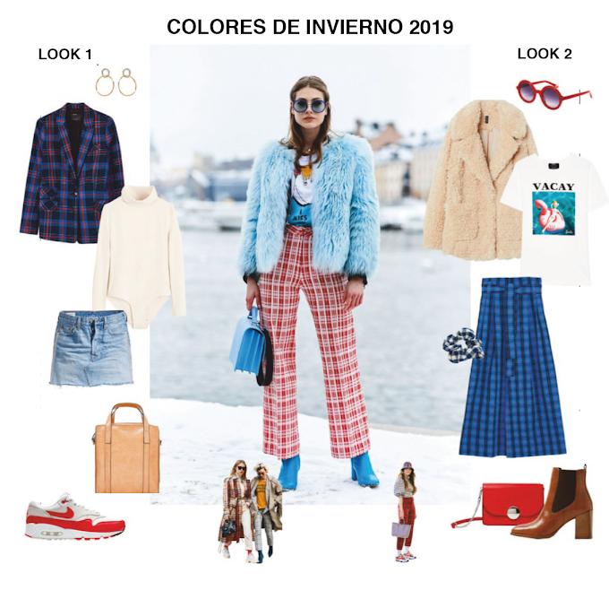 Colores de moda Invierno 2019 2 looks para copiar