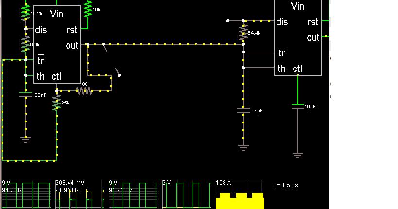 dubworks circuit simulation of a simple adjustable siren. Black Bedroom Furniture Sets. Home Design Ideas