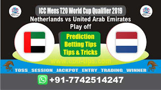 Who will win Today, ICC Men's WC T20 Qualifier 2019, Play off Match UAE vs NED