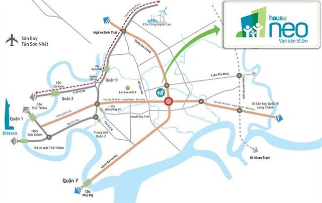 vị trí dự án Hausneo quận 9