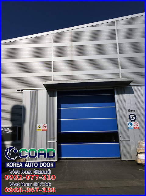 Cửa đóng mở nhanh, cửa cuốn tốc độ cao, cửa màn nhựa pvc, cửa cuốn công nghiệp, COAD