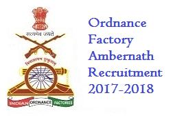 Ordnance Factory Ambernath Recruitment