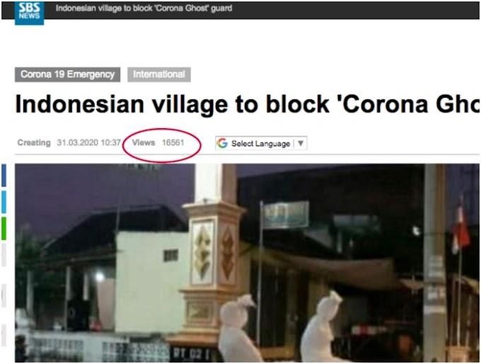 Viral.. Pocong Jaga Kampung Saat sedang Lockdown Corona