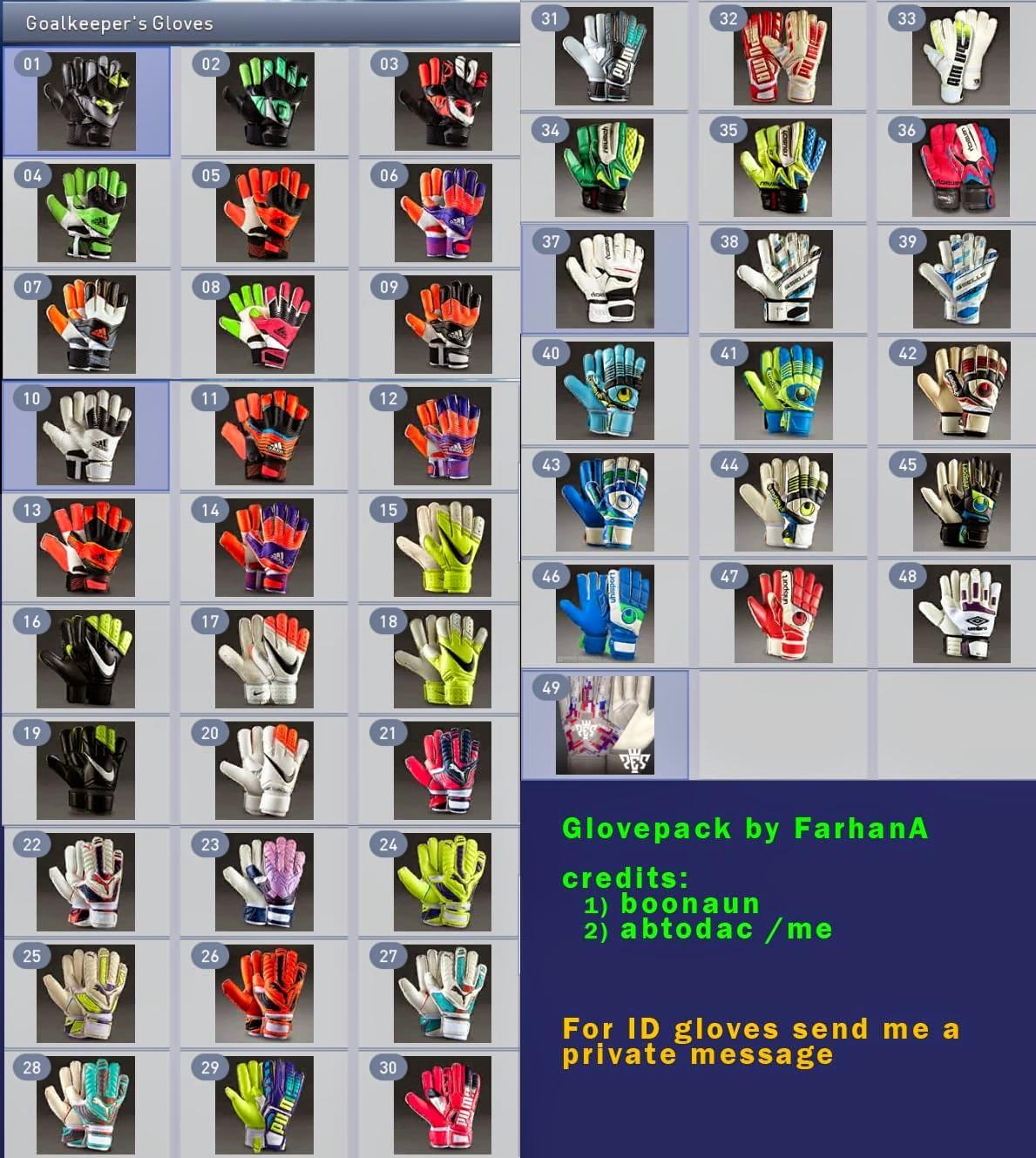 Pes 2013 Pc Edições Evolution: [PES 2015 PC] Mega Pacote De Luvas De Goleiro By FarhanA
