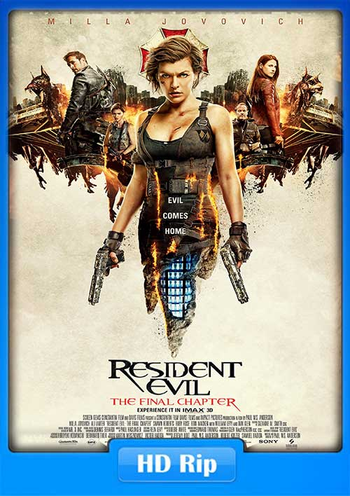 Resident Evil The Final Chapter 2017 Webrip 720p 800mb X264