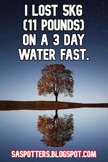 I lost 5 kg (11 pounds) on 3 day water fast.