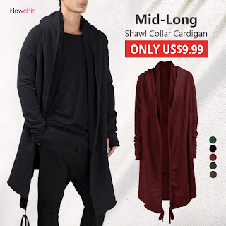 NewChic Long Mens Cardigans