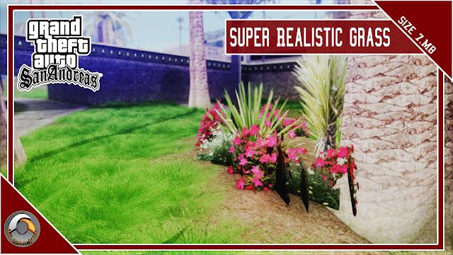 GTA San Andreas Super Realistic Grass Mod Pc