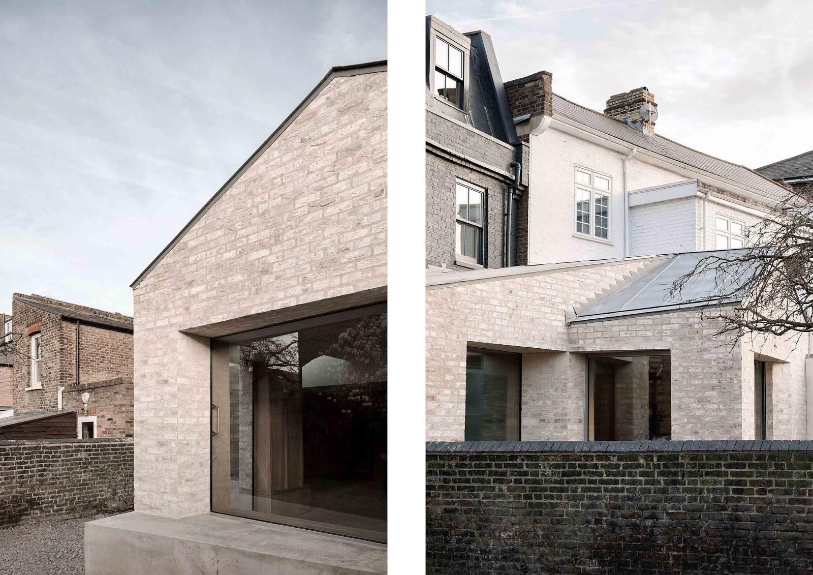 Mattoni a contrasto ed interni in cemento e legno arc for Case di mattoni ranch