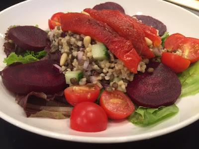 Mediterranean Summer Salad in a bowl