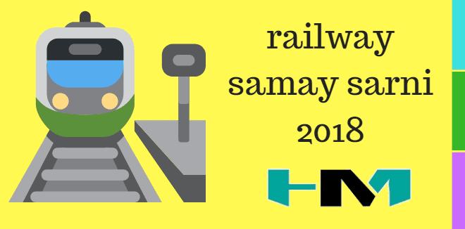 Rail Samay Sarni Ki Jankari