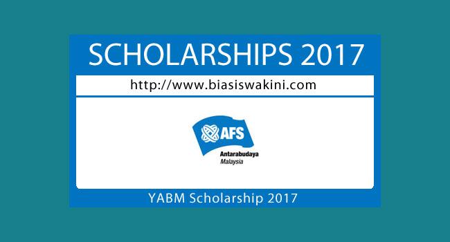 Yayasan AFS Antarabudaya Malaysia Scholarship 2017