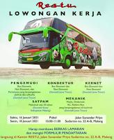 Walk In Interview at Restu Bus Malang Januari 2021