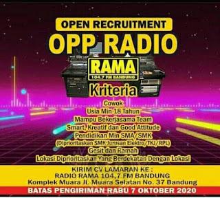 Lowongan Kerja Radio Rama Bandung